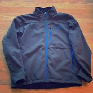 North Face Windwall XL charcoal blue: warm & dry